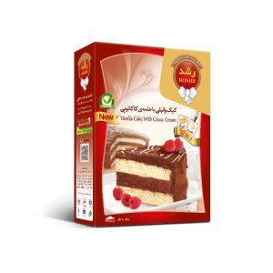 کیک وانيل با خامه كاكائو